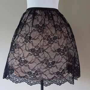 Body By Victoria Size 10 Black Lace Over Pink Slip